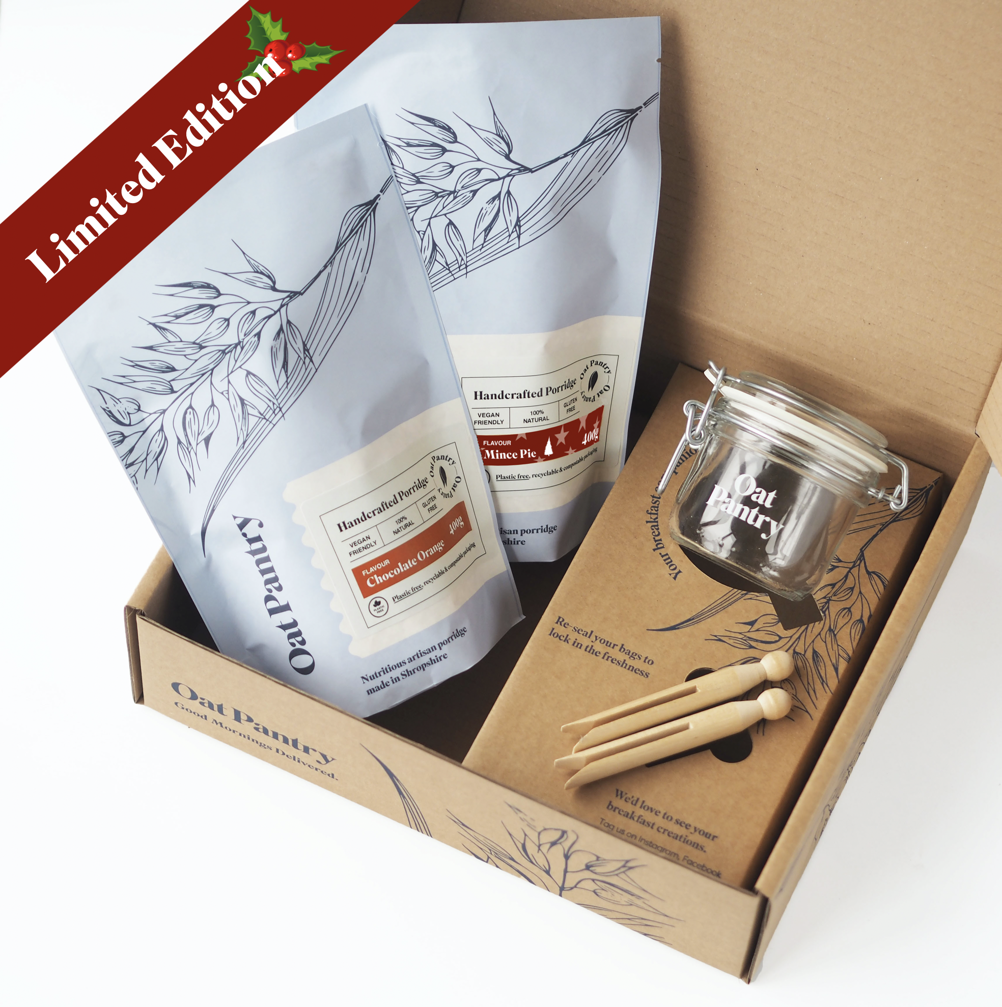 Christmas Overnight Oats Gift Box