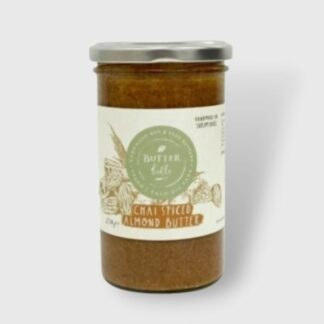 Chai Spiced Almond Butter Grey Background